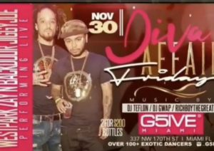 MIA - G5IVE Friday's 11/30 @ G5IVE Miami |  |  |