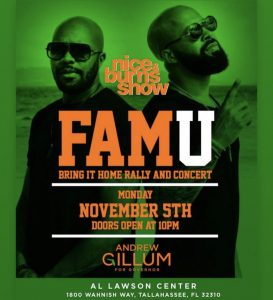 Tallahassee- Kenny Burns 11/5 @ Al Lawson Center |  |  |