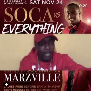 NYC - Soca vs. Everything 11/24 @ 5th & Mad  |  |  |