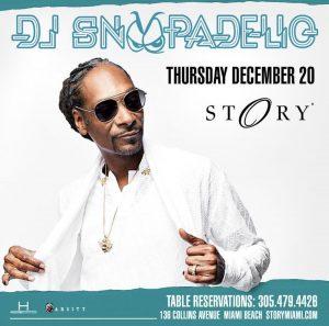 MIA - DJ Snoopadelic 12/20 @ Story |  |  |