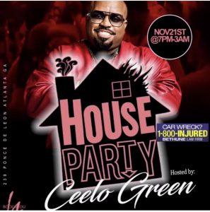ATL - Ceelo Green 11/21 @ Boogalou Atl |  |  |
