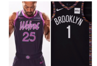 67772bcb341 The Brooklyn Nets And Minnesota Timberwolves Pay Homage To Biggie