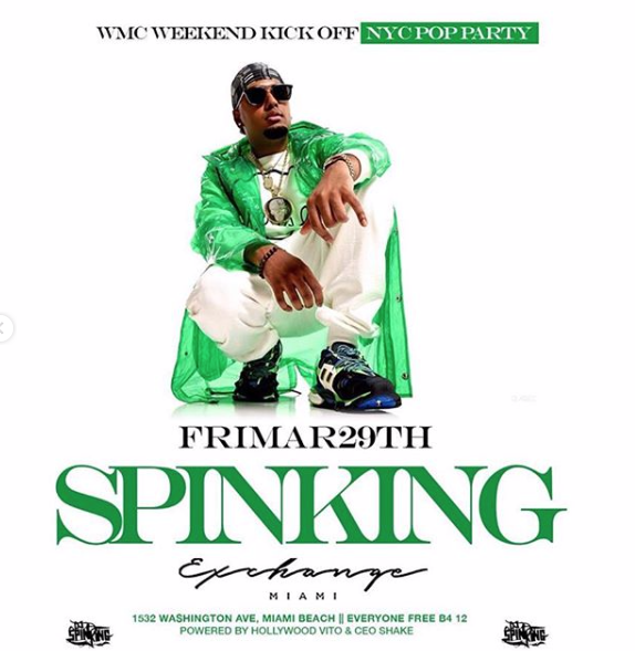 Miami - @ExchangeMiami for Miami Music Week - DJ SPINKING @ Exchange Miami