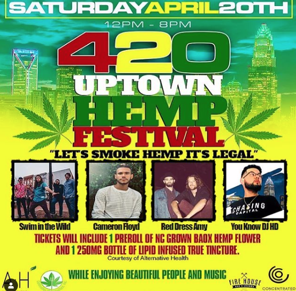 Charlotte, NC - 420 Uptown Hemp Festival @ Fire House Bar and Lounge