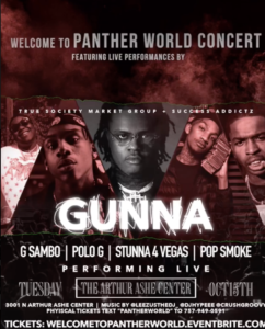 #Richmond VA - Welcome to Panther World Concert Feat. Gunna, Polo G, Stunna & More!
