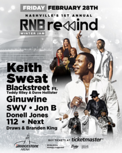 #NASHVILLE- RNB Rewind:  Keith Sweat, Blackstreet, SWV, Ginuwine 112, Jon B & More!