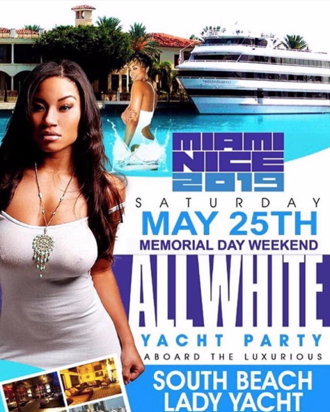 #Miami - #MemorialDayWeekend- The Annual All White Yacht Party